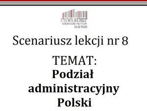 Scenariusz lekcji: Podział administracyjny Polski