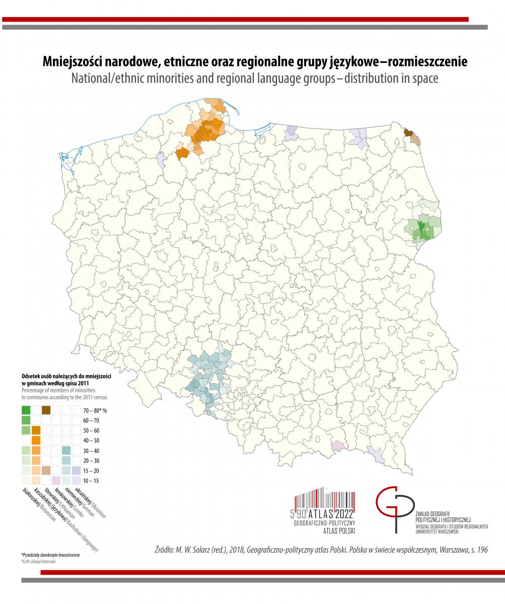 MAPA TYGODNIA: mniejszości narodowe w Polsce