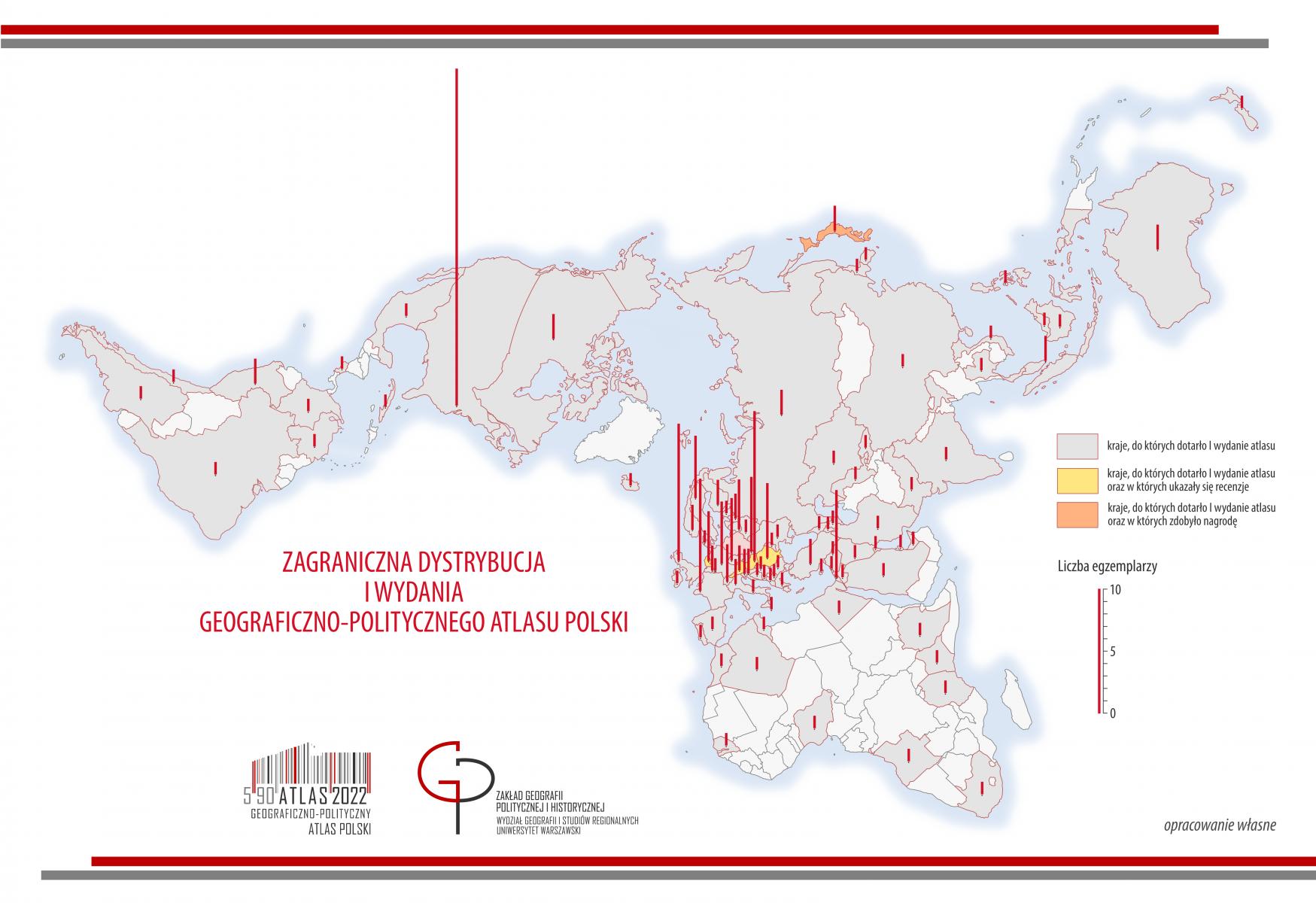 ATLASOWE CIEKAWOSTKI - zagraniczna dystrybucja atlasu