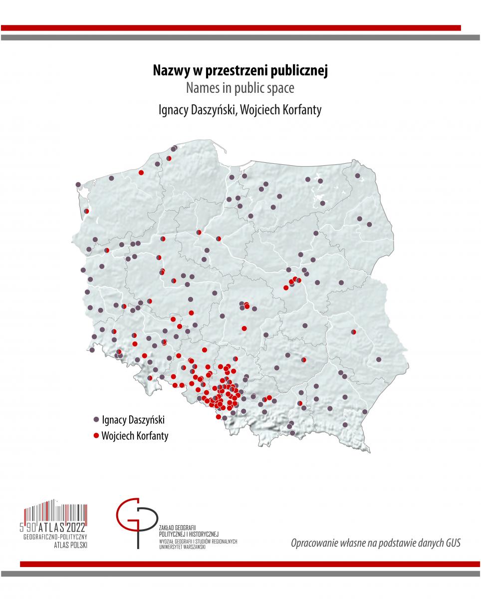 MAPA TYGODNIA: nazwy ulic: Korfanty i Daszyński