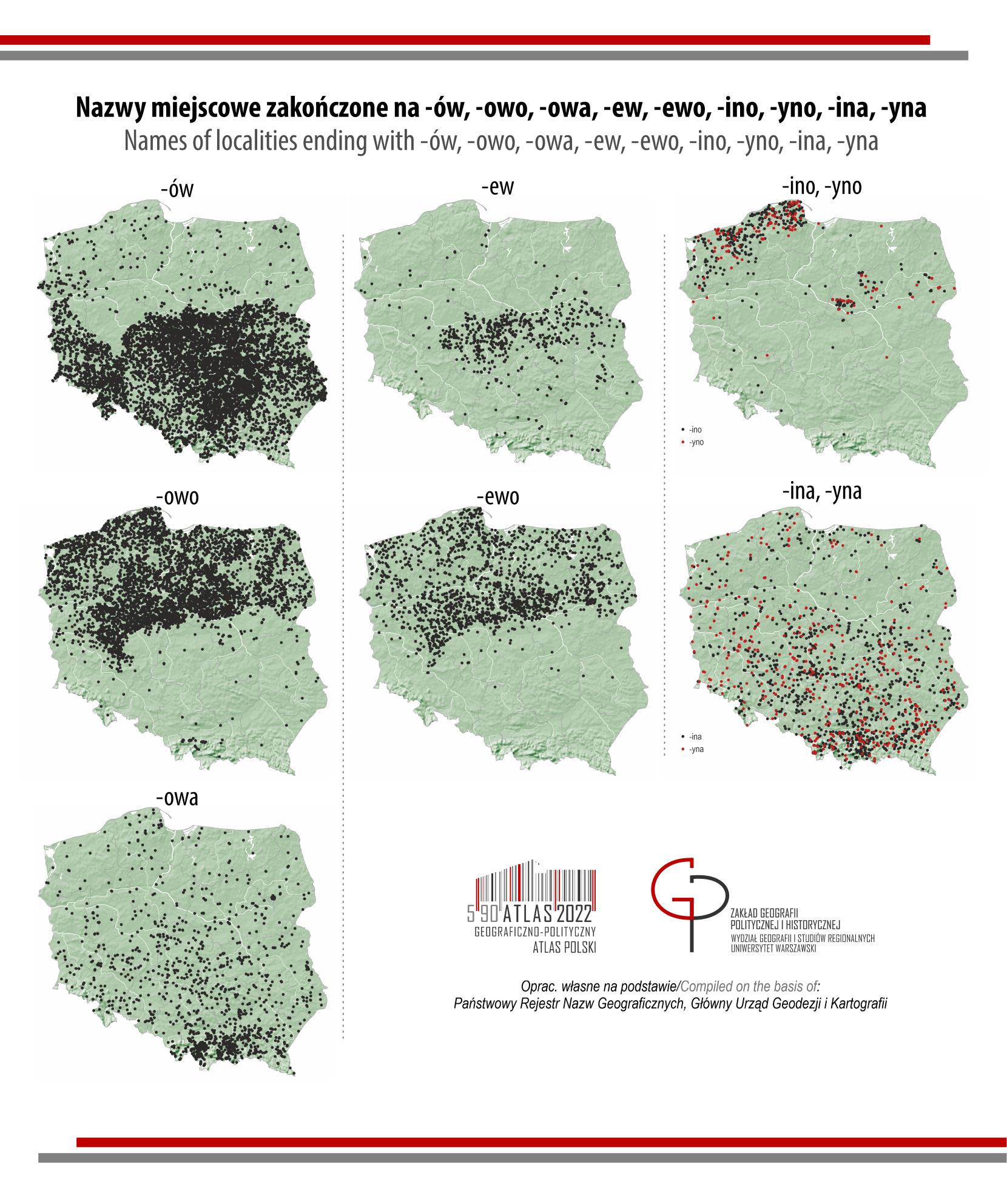 MAPA TYGODNIA: miejscowości- nazwy dzierżawcze