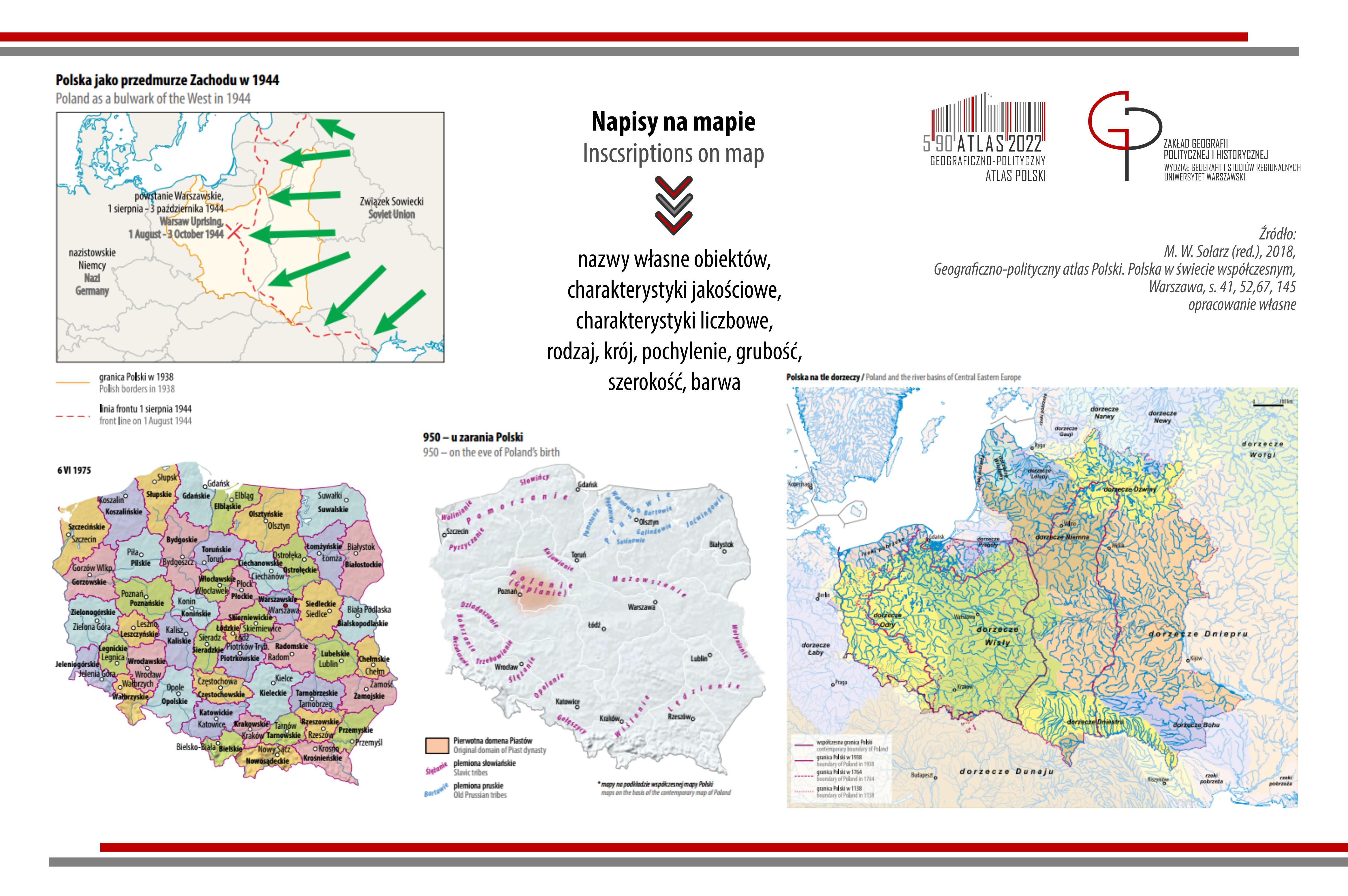 POST KARTOGRAFICZNY: napisy na mapach