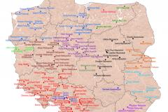 MAPA TYGODNIA: miejscowości zawierające człon regionu w nazwie
