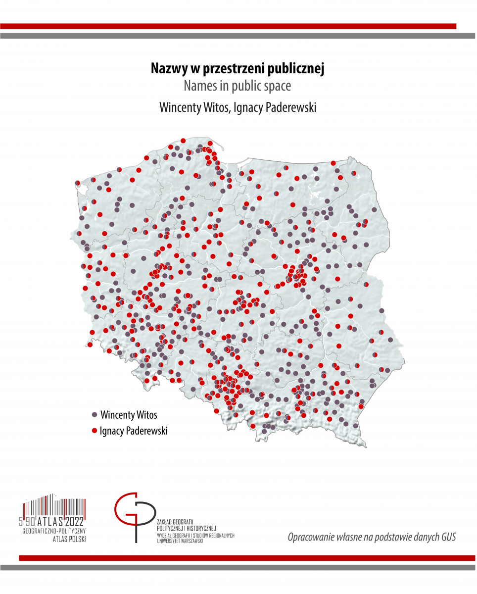 MAPA TYGODNIA. Nazwy w przestrzeni publicznej: Paderewski i Witos