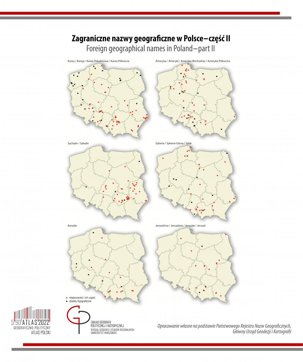 MAPA TYGODNIA: zagraniczne nazwy geograficzne w Polsce cz2