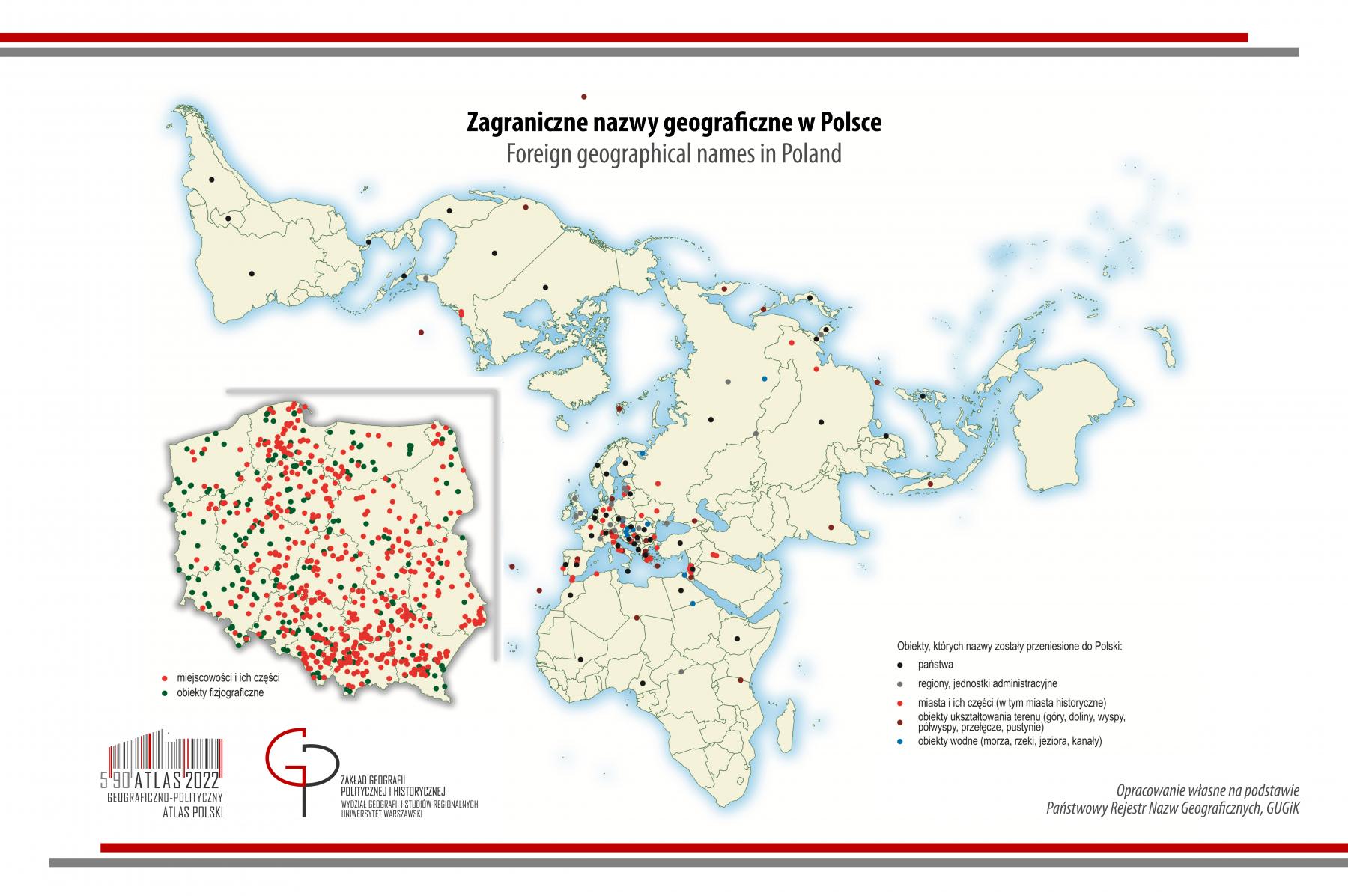 MAPA TYGODNIA: zagraniczne nazwy geograficzne w Polsce